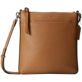 COACH Bleecker Pebbled Leather North-South Swingpack