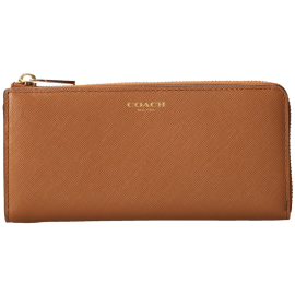 COACH Saffiano Leather Slim Zip